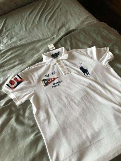 全球购 Ralph Lauren拉尔夫·劳伦 男装大马标纯色短袖POLO衫 白色WHITE(010) L 标准码 晒单图