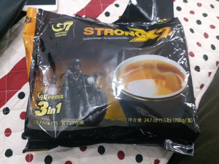 越南进口 中原G7三合一浓醇咖啡700g(25克*28包) 晒单图