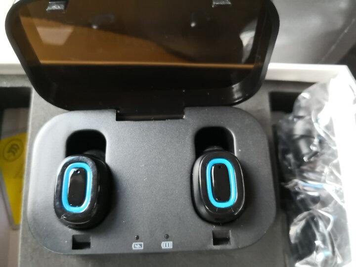 现代(HYUNDAI)Q11 蓝牙耳机无线双耳迷你隐形小跑步运动入耳塞挂耳式重低音商务魔音小米苹果华为通用 黑色 晒单图