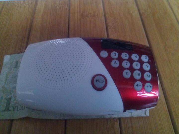 夏新(Amoi)V8 迷你音响便携老人收音机 插卡音箱低音炮户外儿童早教mp3音乐播放器 可乐红 标配不含内存 晒单图