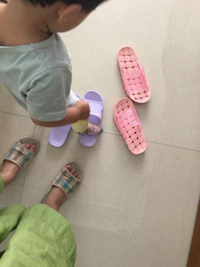 朴西 新款家居凉拖鞋夏天女士居家洗浴拖鞋男软底塑料浴室拖鞋 浅紫色 37-38(建议36-37) 晒单图