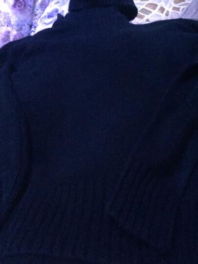 南极人 毛衣女2019秋冬女装新品韩版学生时尚宽松纯色中长款长袖女士针织衫高领上衣打底衫女士套头外套 黑色 均码高弹力 晒单图