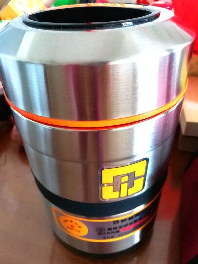 爱家宝 不锈钢304双层真空保温饭盒 2600ML保温桶 送保温袋和餐具 晒单图