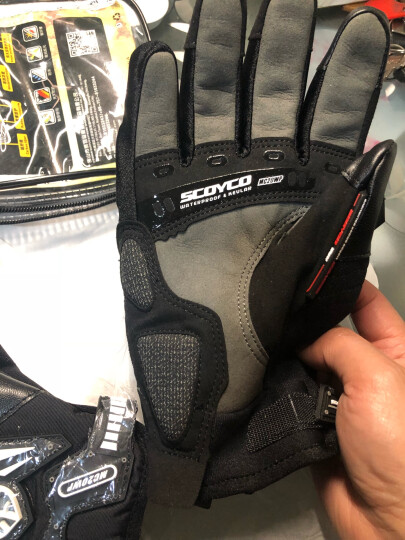 赛羽(SCOYCO)摩托车手套防水赛车防摔全指男女冬季保暖碳纤维手套可触屏 夏季透气红色(不防水) XXL 晒单图
