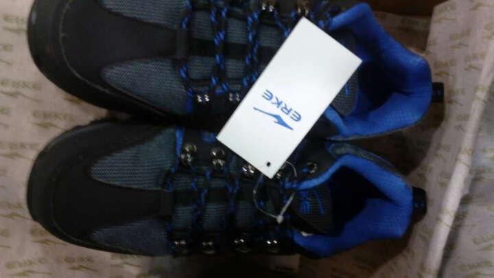 鸿星尔克男鞋erke户外鞋男防沙防滑登山鞋 耐磨中低帮徒步鞋旅游鞋 正黑/蔚蓝 41 晒单图