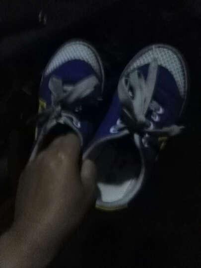 回力儿童帆布鞋男童女童 中小学生碎钉足球鞋训练跑步鞋 品牌童鞋 蓝色 35码/225-内长22cm 晒单图