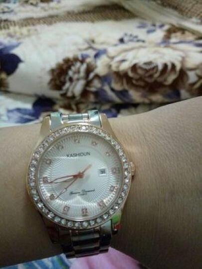卡诗顿(KASHIDUN)水晶钻时尚潮流水钻时装表女表精钢夜光防水女士 YJ-001 晒单图