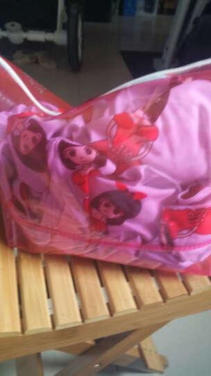 泳衣女连体平角裙式保守遮肚显瘦加大码胖MM时尚温泉泳装 BDS18036红色 XL 晒单图