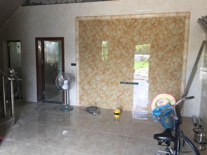森摩瓷砖客厅电视背景墙通体大理石地板砖加厚800*800地砖 加厚通体大理石-松子棕(片/元)(2片/箱) 晒单图
