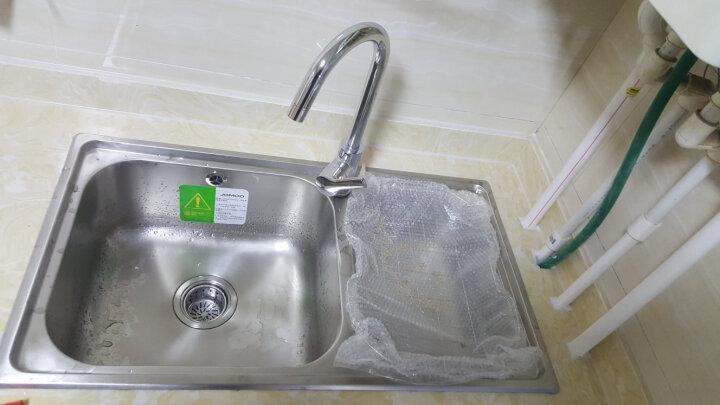 九牧(JOMOO)厨房水槽套装双槽单槽不锈钢加厚洗菜盆消音防凝露洗碗池 水槽双槽A款 晒单图