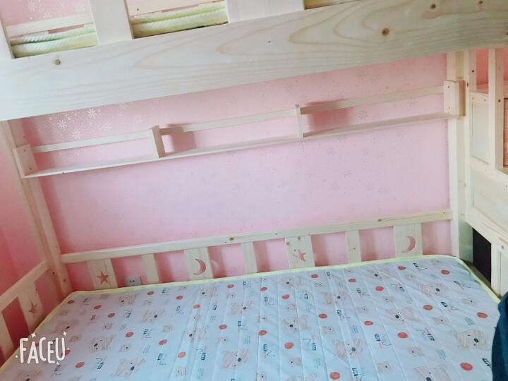 皇家御兔 床全实木床上下床双人床高低床双层床上下铺公主床 直梯床上铺宽130下铺宽150 送货上门   并安装 晒单图