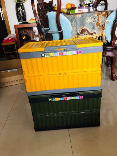 亿高 EKOA加厚收纳箱中号折叠整理箱衣物玩具收纳盒汽车储物箱35L芒果黄 晒单图