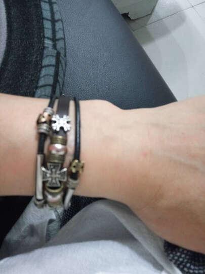 藏巴部落 手链十字架铆钉霸气男士手链朋克复古个性时尚手饰表带式手链 晒单图