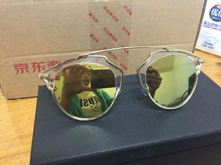 DIOR 迪奥 女款玳瑁/银色镜框上银色镀膜下灰色镜片眼镜太阳镜DIORSOREAL AOOMD 48mm 晒单图