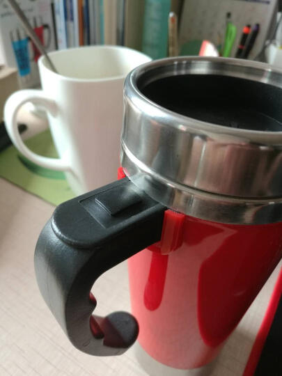 点魅 自动搅拌咖啡杯子 懒人电动马克杯 不锈钢电动旋转咖啡杯 生日礼物女 创意礼品实用新奇 500ml红色 晒单图