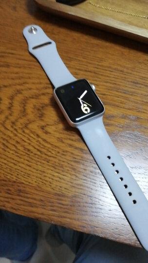 Apple Watch Series 3智能手表(GPS款 42毫米 银色铝金属表壳 云雾灰色运动型表带 MQL02CH/A) 晒单图