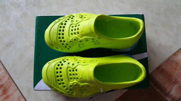 puma童鞋男女夏季新款儿童糖果色洞洞鞋中小童包头凉鞋女童沙滩鞋354968-1 黄色-白色 31码/脚长18.5cm 晒单图