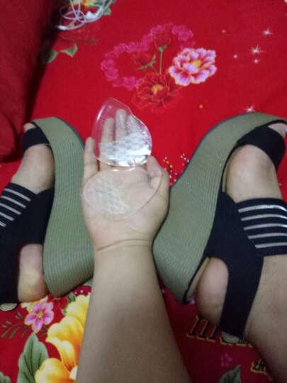 逸希拖鞋女新款坡跟凉鞋松糕厚底一字拖亮片露趾凉鞋女高跟鱼嘴鞋 银色 37 晒单图