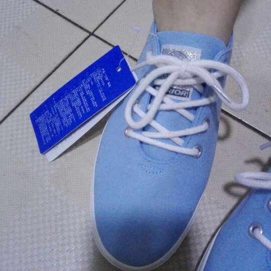 回力经典帆布鞋女春季 纯色小白鞋护士鞋 休闲低帮平底学生女鞋 浅蓝偏大一码建议买小一码 39码 晒单图