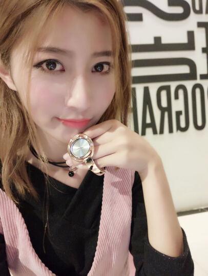 艾诺(AILUO)时尚手表女表情侣手表防水精钢女士手表正品7117L 7079玫瑰金 晒单图