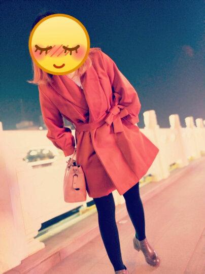 慕知颜 毛呢大衣女中长款毛呢外套2019秋冬装新款韩版女装长袖呢子外套修身加棉加厚 焦糖色(加棉加厚) L 晒单图