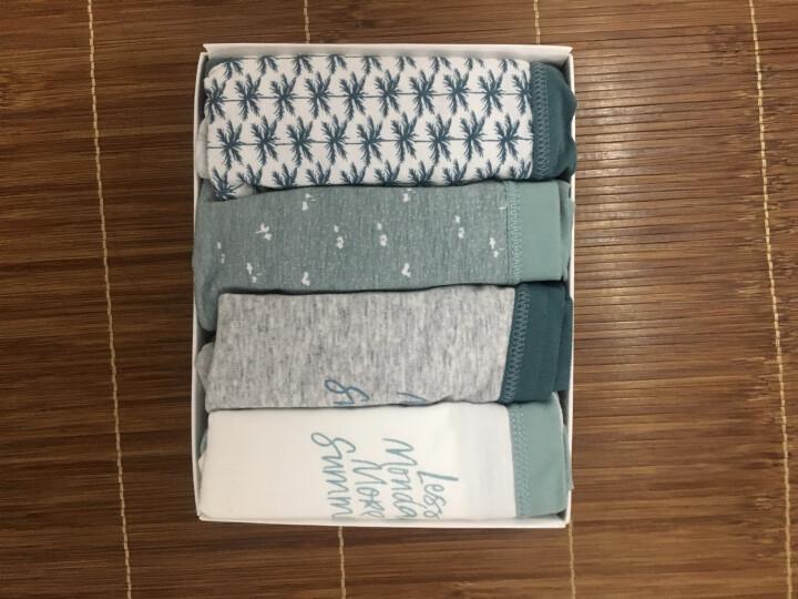 南极人(Nanjiren)女士内裤棉质可爱无痕卡通性感三角裤4条礼盒装 清凉风系列 M 晒单图