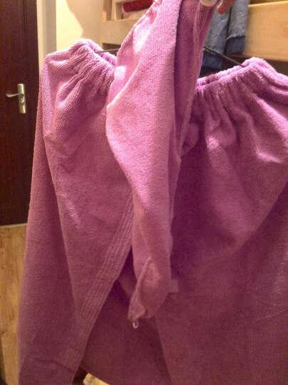 名佑 浴巾 百变浴巾 可穿浴巾 强吸水百变魔术浴袍 多款选择  男女通用款 新款浅紫色蝴蝶结(带口袋) W 晒单图
