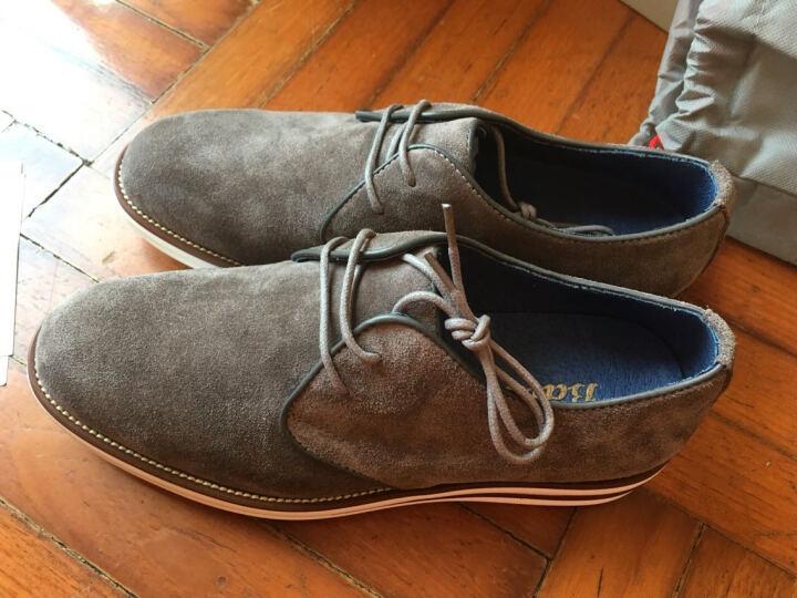 Bata拔佳男士皮鞋户外休闲鞋板鞋男 浅灰色814-2509 40 晒单图