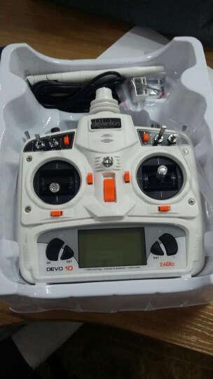 华科尔 遥控器DEVO 10 10通道2.4G航模固定翼直升D10接收器 套餐七 晒单图