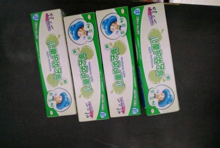 孩儿面儿童护齿牙膏(草莓味) 40g(无糖低氟,有效防蛀) 晒单图