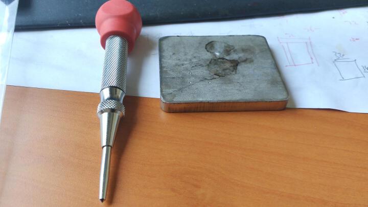 日本罗宾汉(RUBICON)进口中心定位冲 中心冲子 逃生锤 划痕器 No.5 120mm 晒单图