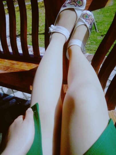 琴澜春秋季新款老北京布鞋平底绣花鞋民族风女内增高 米白色 38 晒单图