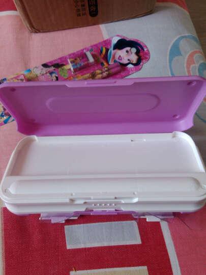 小灵精 迪士尼小学生男女三层塑料文具盒可爱卡通创意儿童多功能铅笔盒 带套尺83088米奇-浅绿色 晒单图