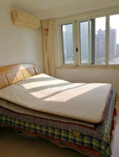 床垫 褥子 床垫子1.8m 床褥子 1.5m双人垫被学生宿舍床垫 榻榻米床垫 宽边法兰绒床垫酒红 150*200cm 晒单图