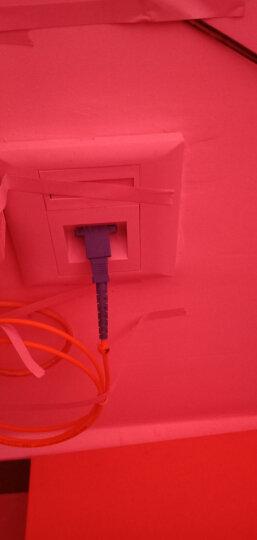 电信联通移动铁通光纤猫宽带光纤到户预埋线SC-SC接口家庭入户延长线家用光纤猫延长线 SC方形转接器 晒单图
