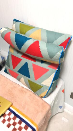 伊菲曼(E-FURMAN)三角靠枕靠垫抱枕三档调节 办公室沙发床头靠垫腰枕 含芯 田园 幻彩旗帜 三挡调节大号(含圆柱) 晒单图