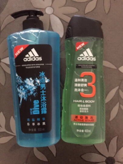 阿迪达斯(Adidas)冰点沐浴露600ml  持久留香冰爽体验 富含海盐成分 有效去角质 晒单图