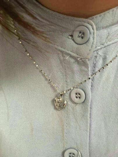 LOVEHER pt950爱心铂金吊坠项链 女款情侣吊坠 拉丝工艺流线心形 1.7克 送银项链 晒单图