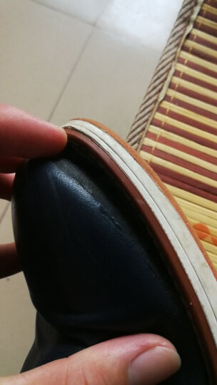 漫步者休闲鞋男 新款英伦男鞋春季新款休闲皮鞋潮流青年板鞋男士隐形内增高鞋子男 6802黑色-内增高/运动码 43 晒单图
