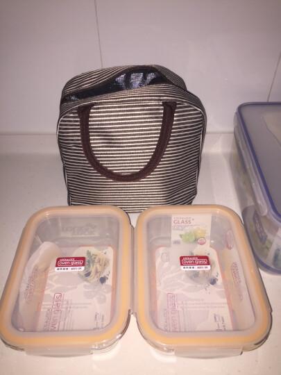 乐扣乐扣 微波炉饭盒 大容量玻璃保鲜盒 密封便当盒餐盒赠带饭包 可作饺子盒 冰箱收纳 LLG445*2 1000ml*2 晒单图