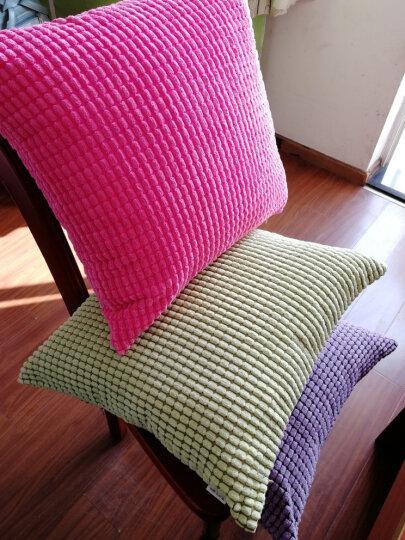 锦色华年 灯芯绒抱枕靠垫沙发床头汽车靠背垫靠枕套 奢华紫 40*40cm含芯 晒单图