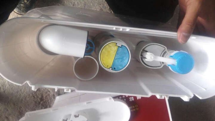 欧吉美 节能冲水箱 双按式厕所蹲便器水箱 ABS原料新款 冲水箱 06 蹲便器水箱 06款 晒单图