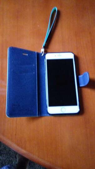 iPhox适用于苹果iphone6plus手机壳保护皮套防摔硅胶翻盖钱夹手机套5.5英寸 紫+蓝 6plus5.5英寸 晒单图