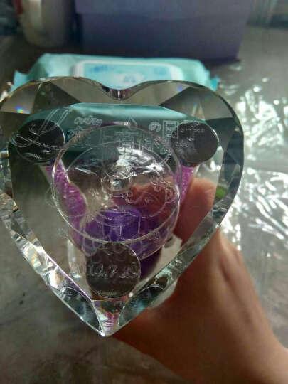夜光钻石【免费刻字】水晶沙漏 情人节生日礼物女生 创意礼品送女友老婆 紫色钻石款刻字 晒单图