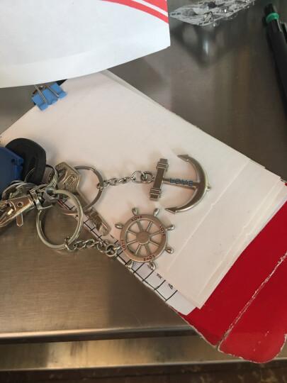 情侣钥匙扣情侣挂饰创意造型男女钥匙链韩版个性钥匙圈挂件 结婚礼物 船锚方向盘1对 晒单图