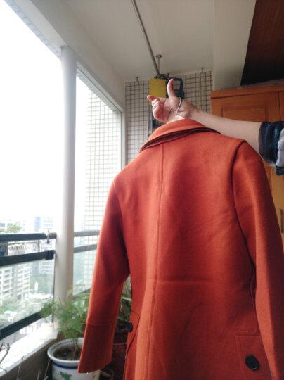 芳帛 毛呢大衣女外套中长款2019春装新款韩版修身呢子大衣 大红 L 晒单图