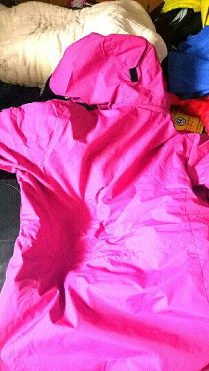 KUAILV 新款中长款冲锋衣情侣 韩版时尚加厚三合一冲锋衣女 大码户外登山服 保暖外套 女 梅紫 L女160 53/60kg 晒单图