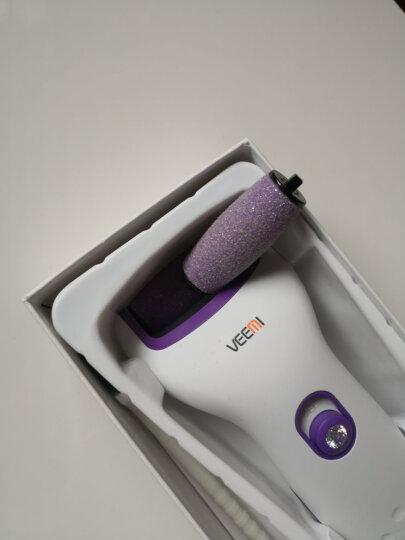 VEEMI 微米电动修脚器 充电式家用去死皮老茧磨脚器 白紫色磨脚器标准版 晒单图