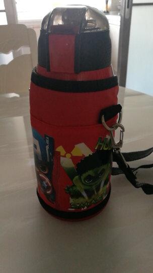 迪士尼(Disney)儿童保温杯保温壶带吸管不锈钢水杯男女学生双盖杯子水壶送杯套 550ML HC6002N 米妮粉色 晒单图