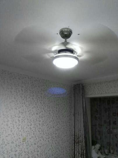 嘉业 餐厅卧室客厅 LED带灯吊扇灯风扇灯 简约时尚铁叶电风扇吊灯52JY-5169 不锈钢叶-变光/壁控 50寸展开直径127CM 晒单图
